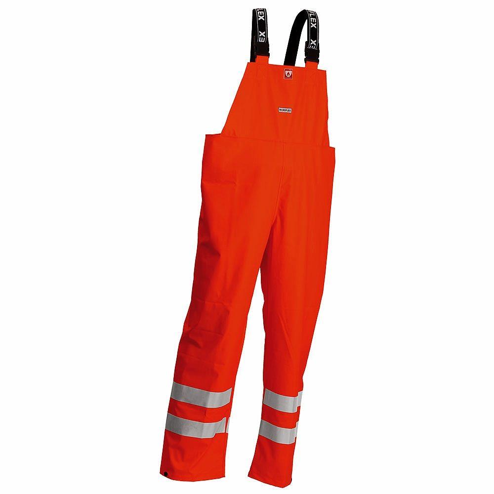 Lyngsoe Rainwear Flame Retardant Anti Static Waterproof Arc 4kA Hi Vis Class 2 Orange Bib Trousers