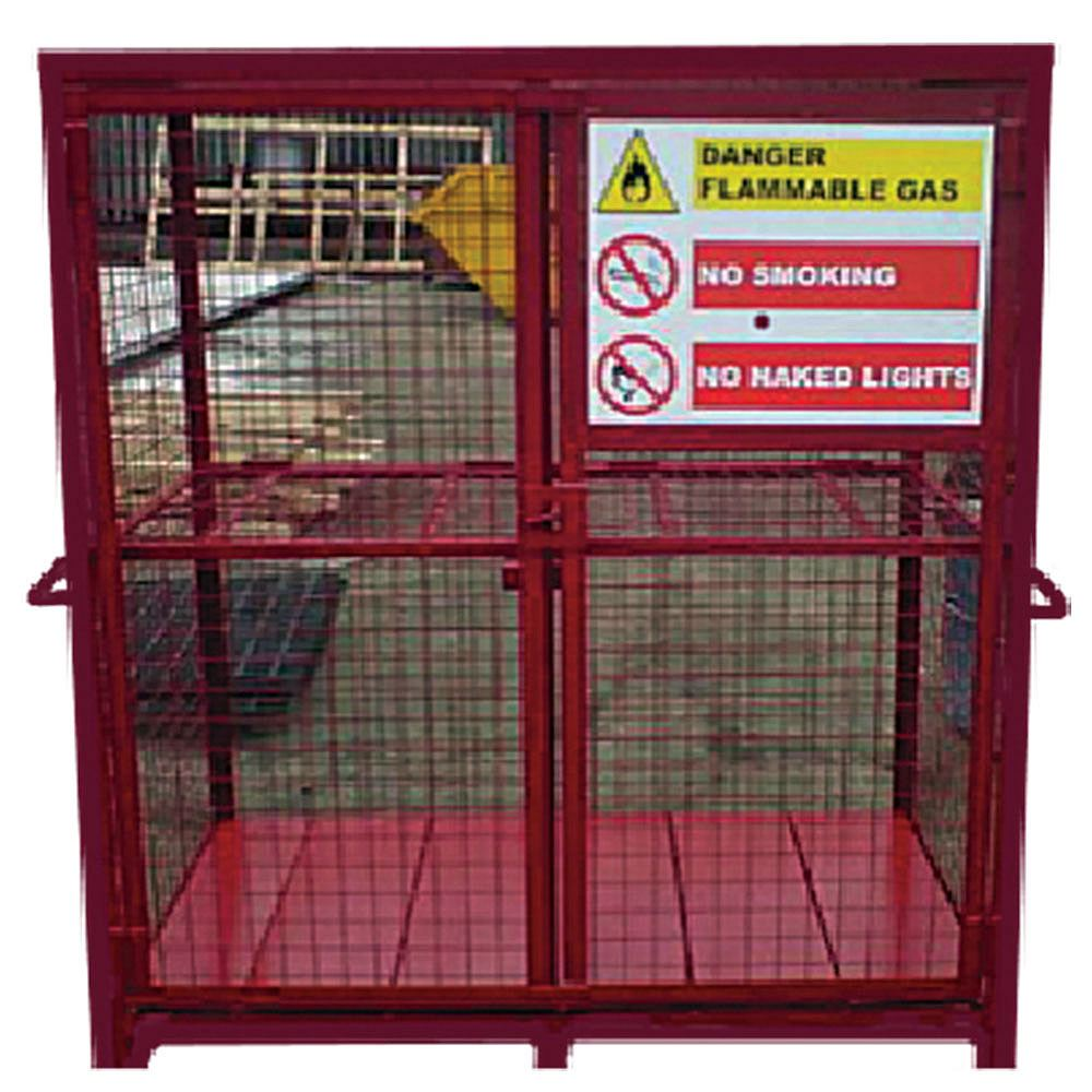 Fixed Frame Gas Storage Cage - 1500mm x 1700mm x 860mm