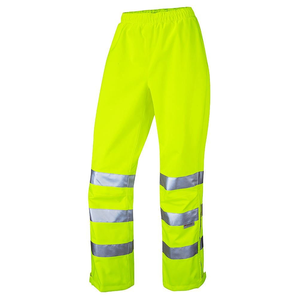 Leo Hannaford Women's Waterproof Breathable Hi Vis Yellow Overtrousers