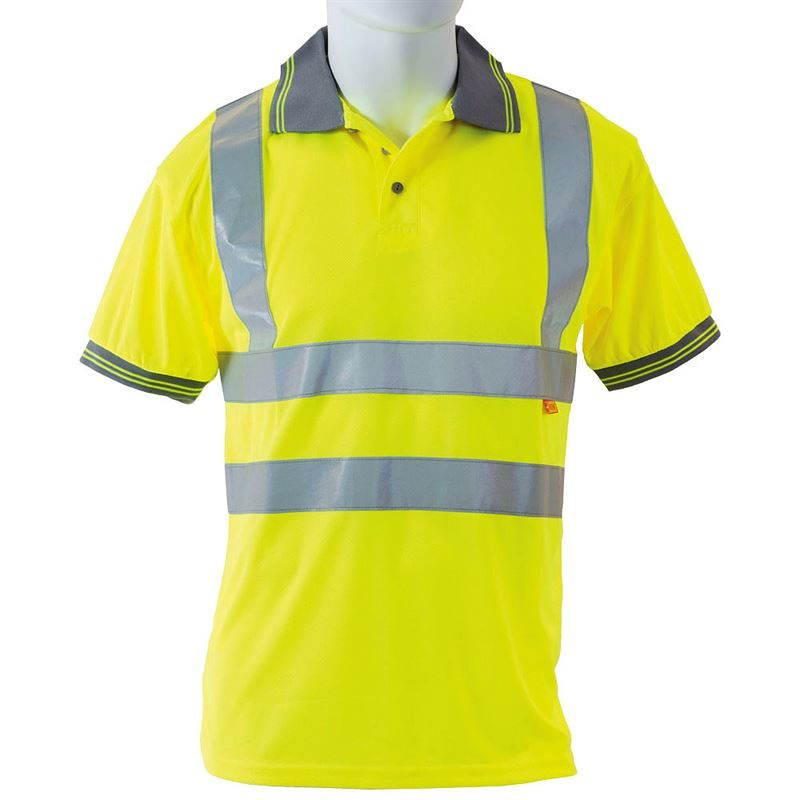 Hi Vis Class 2 Short Sleeve Yellow Polo Shirt
