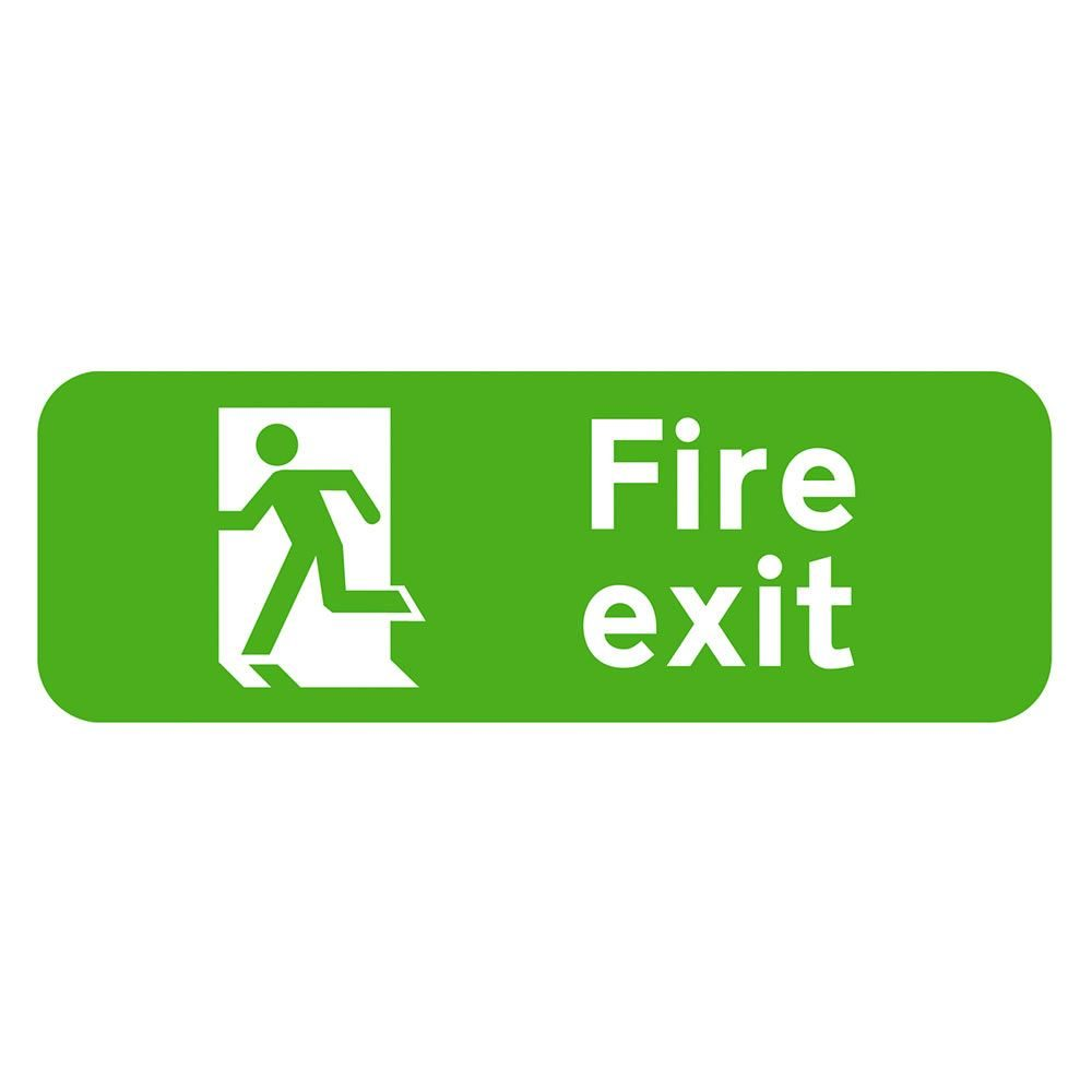 Fire Exit Sign - 600 x 200 x 1mm