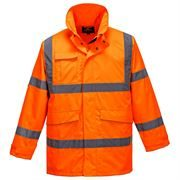 Rail Waterproof Breathable Hi Vis Class 3 Orange Extreme Parka Jacket - 200gsm