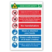 COVID-19 Site Safety Correx Sign - 600mm x 900mm