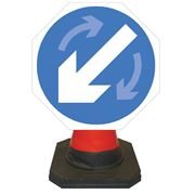 Hangman Keep Left / Keep Right Reversible Cone Sign - 750mm