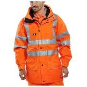 Rail Waterproof Breathable Hi Vis Orange Anorak