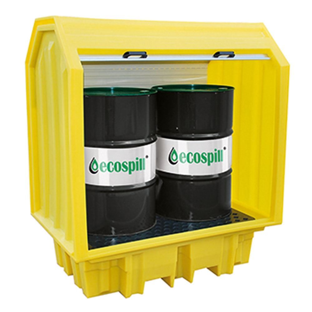 Ecospill All Weather Spill Pallet - Hard Top - 2 Drum