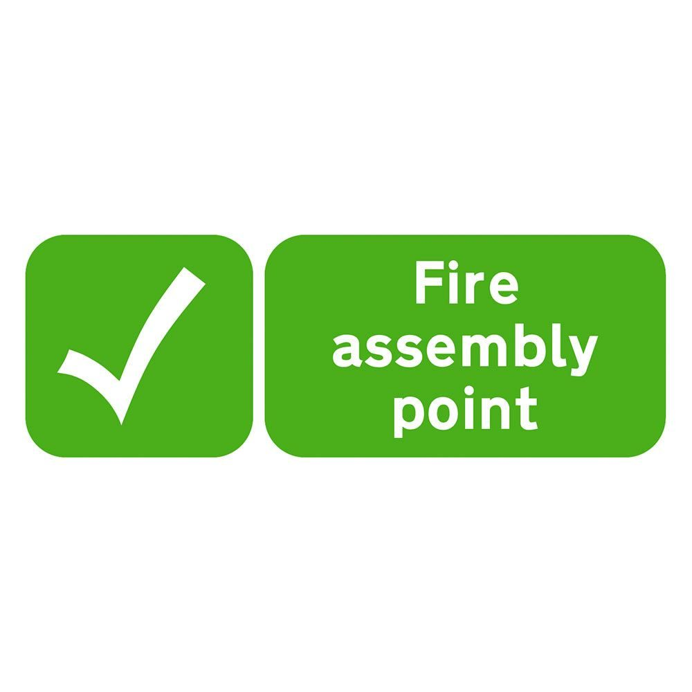 Fire Assembly Point Sign - 600 x 200 x 1mm