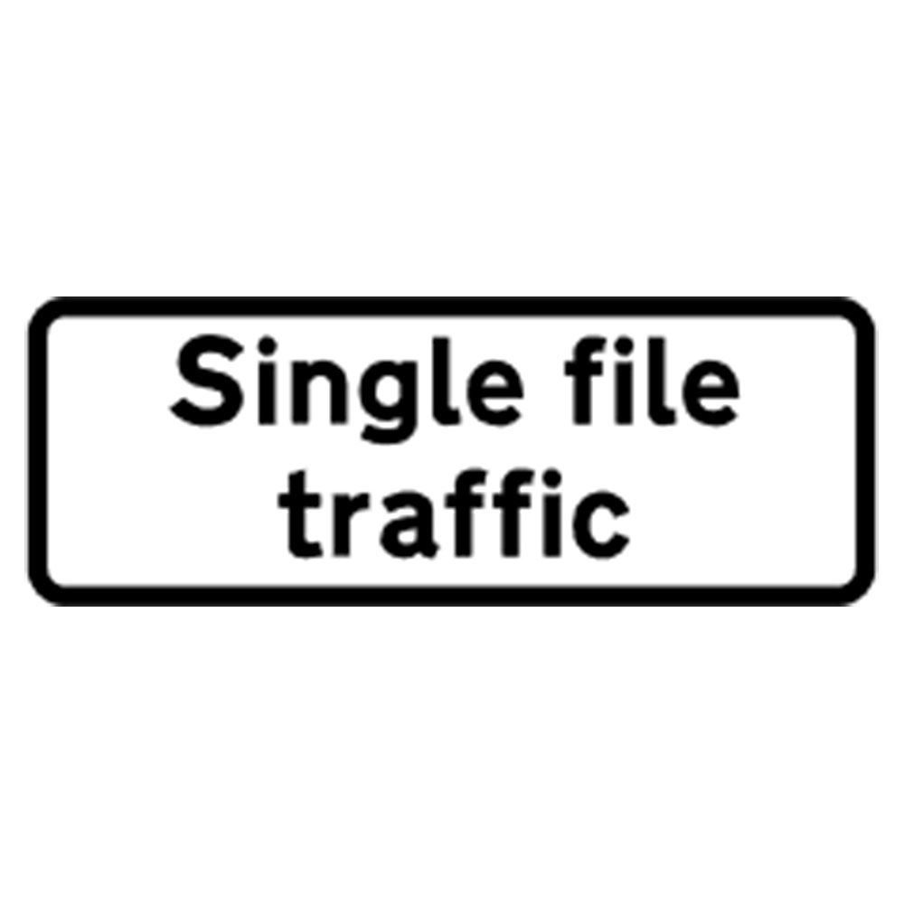 Classic Single File Traffic Roll Up Road Sign Supplement Plate - 750mm