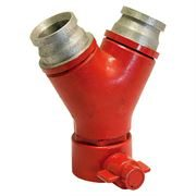 Fire Nozzle Y Connector - 2.5 inch