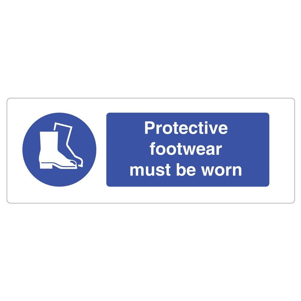 Protective Footwear Must Be Worn Sign - 600 x 200 x 1mm