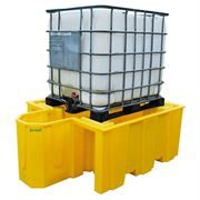 Ecospill Single IBC Spill Pallet and Integrated Dispenser - 140 x 195 x 73cm