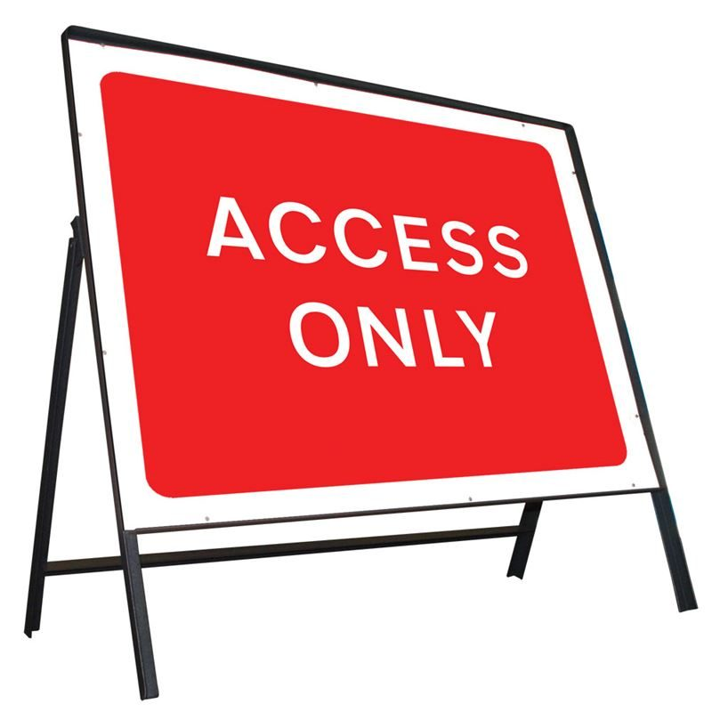 Access Only Riveted Metal Road Sign - 1050 x 750mm