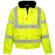 Super-Dri Waterproof Breathable Hi Vis Class 3 Yellow Bomber Jacket