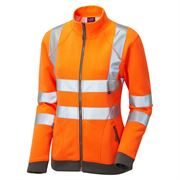 Leo Hollicombe Women's Rail Hi Vis Class 2 Orange Track Top