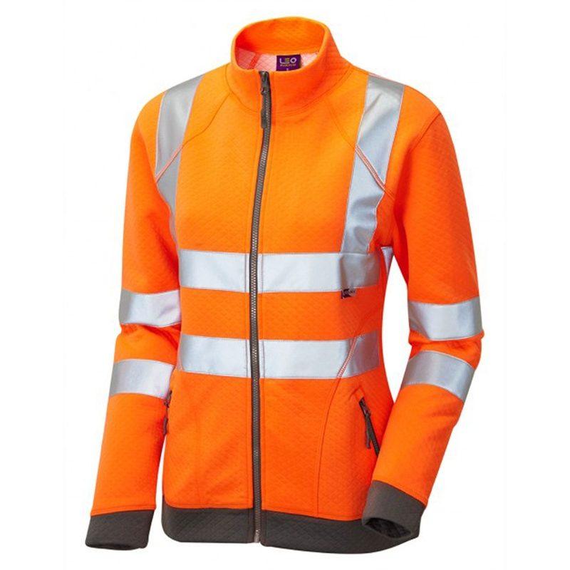 Leo Hollicombe Women's Rail Hi Vis Class 2 Orange Track Top