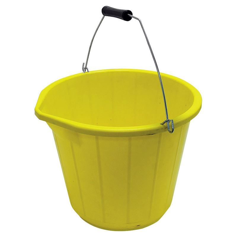 PVC Pourer Yellow Bucket - 3 Gallon