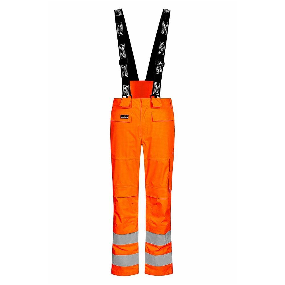 Rail Flame Retardant Anti Static Waterproof Breathable Arc Hi Vis Orange Trousers