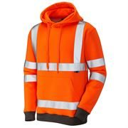 Leo Goodleigh Rail Hi Vis Class 3 Hooded Orange Sweatshirt