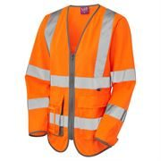 Leo Beaworthy Women's Rail Hi Vis Long Sleeve Superior Zip Orange Waistcoat