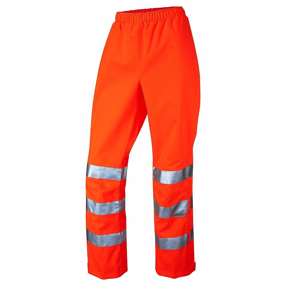 Leo Hannaford Women's Rail Waterproof Breathable Hi Vis Class 2 Orange Overtrousers