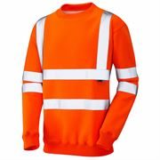 Leo Winkleigh Rail Hi Vis Class 3 Orange Crew Neck Sweatshirt