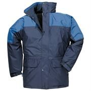 Oban Waterproof Fleece Lined Navy / Royal Blue Jacket