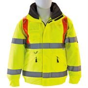 Waterproof Hi Vis Class 3 Highway Braced Yellow Bomber Jacket
