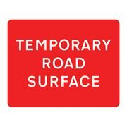 Temporary Road Surface Metal Road Sign Plate - 1050 x 750mm