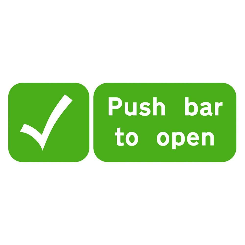 Push Bar To Open Sign - 600 x 200 x 1mm