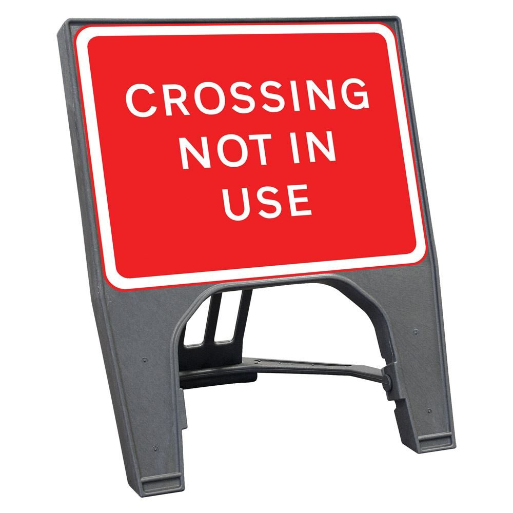 Custack Crossing Not In Use Sign - 600 x 450mm