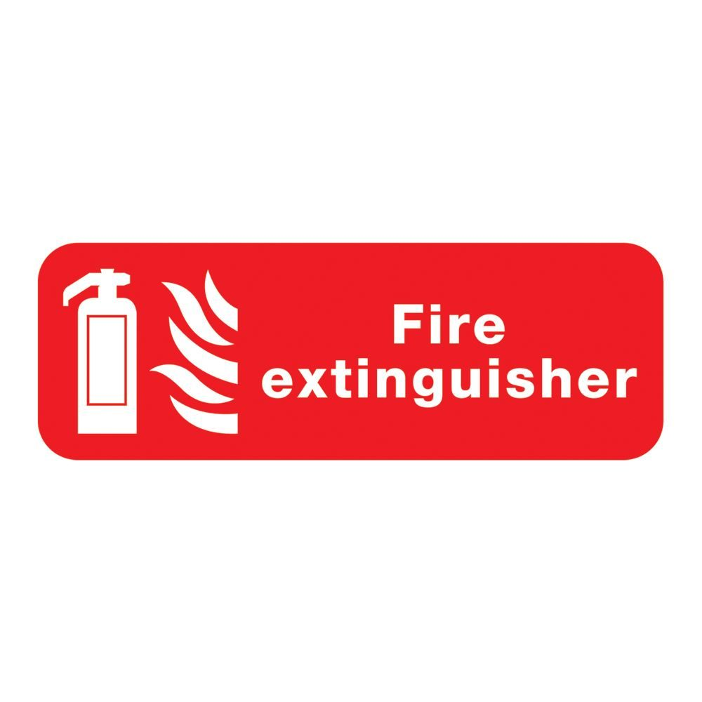 Fire Extinguisher Sign - 600 x 200 x 1mm