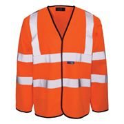 Hi Vis Class 3 Long Sleeve Orange Vest