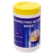 Disinfecting Alcohol Wipes - Tub of 100 Wipes