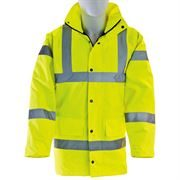 Waterproof Hi Vis Class 3 Yellow Highway Anorak