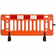 Mergon Orange Barrier with Standard Feet and 1 Clip - 2m