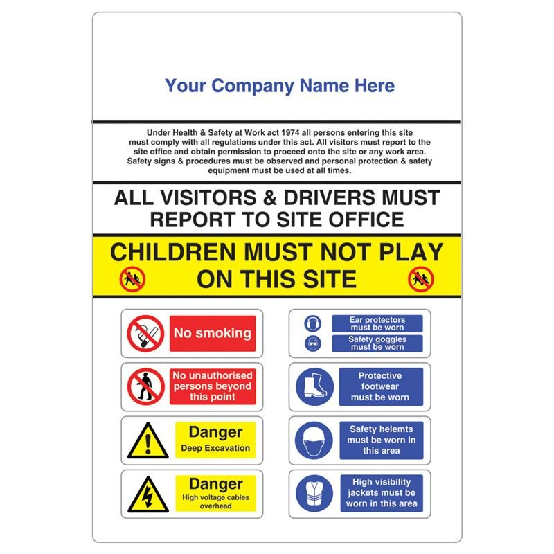 Site Entrance Sign - 900 x 1200mm