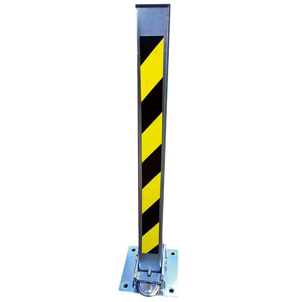 Heavy Duty Fold Down Security Post - 70mm Square