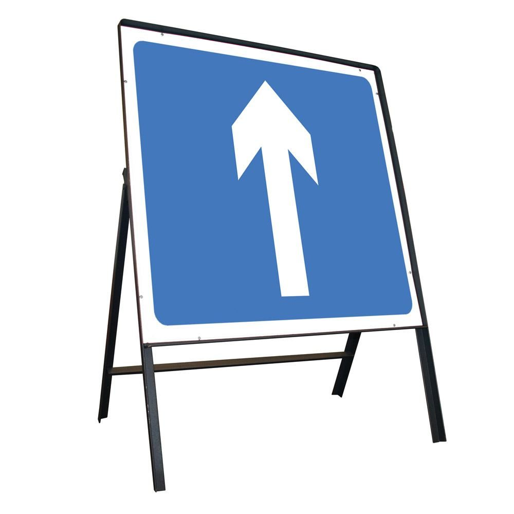 One Way Riveted Square Metal Road Sign - 750mm