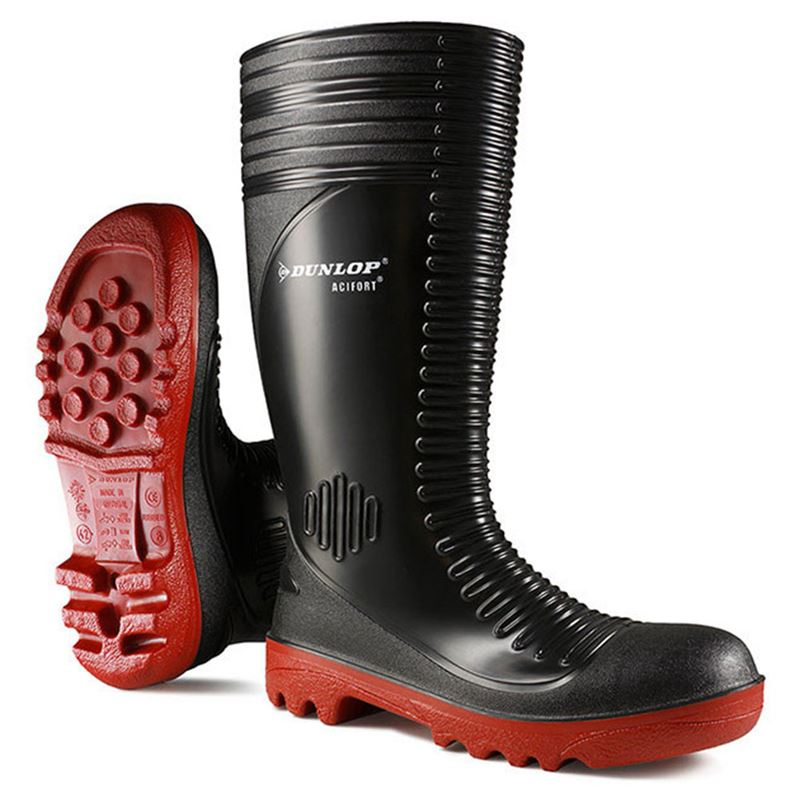 Dunlop Ribbed Safety Wellington Boots