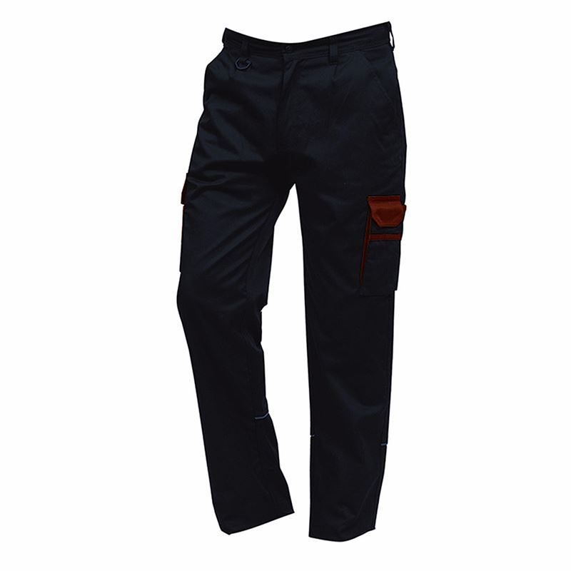 Orn Two Tone Combat Trousers - 245gsm - Short Leg - Navy/Red