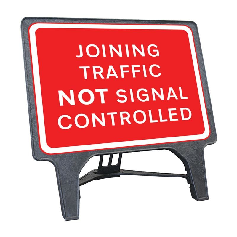 CuStack Joining Traffic Not Signal Controlled Sign - 1050 x 750mm