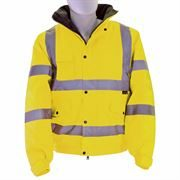 Waterproof Hi Vis Class 3 Yellow Bomber Jacket