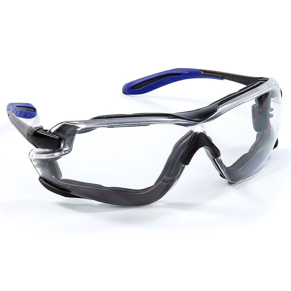 Riley Quadro Safety Glasses - Clear Lens