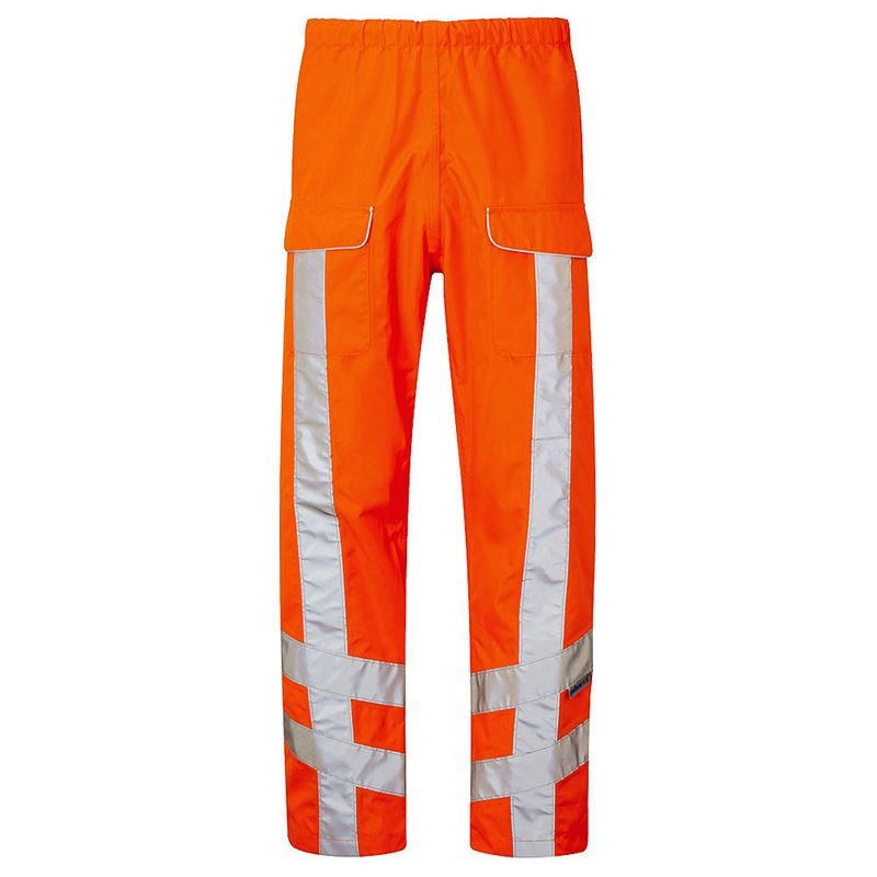 Pulsarail Rail Waterproof Breathable Hi Vis Orange Overtrousers