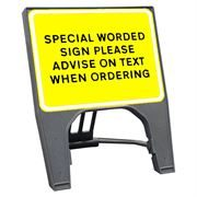CuStack Black on Yellow Special Sign - 600 x 450mm
