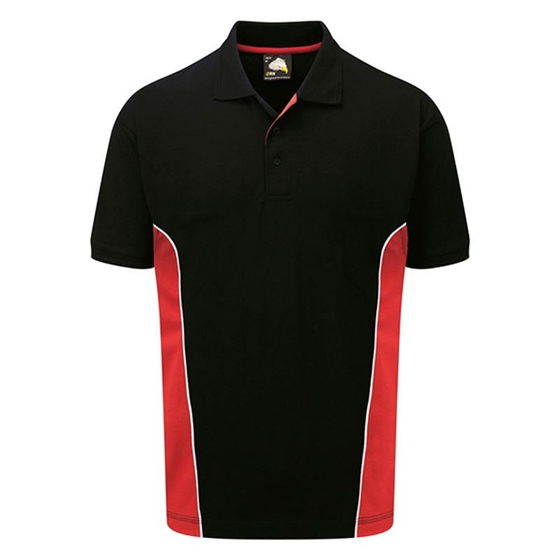 Orn Two Tone Short Sleeve Polo Shirt - 220gsm - Navy/Red