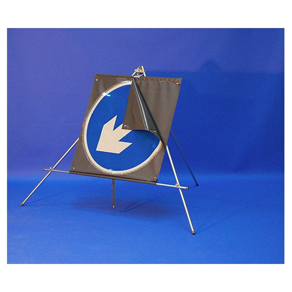 Classic Keep Left / Right Reversible Circular Roll Up Road Sign - 750mm