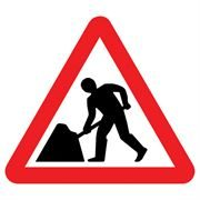 Men at Work Roadworks Triangular Traffic Management Sign