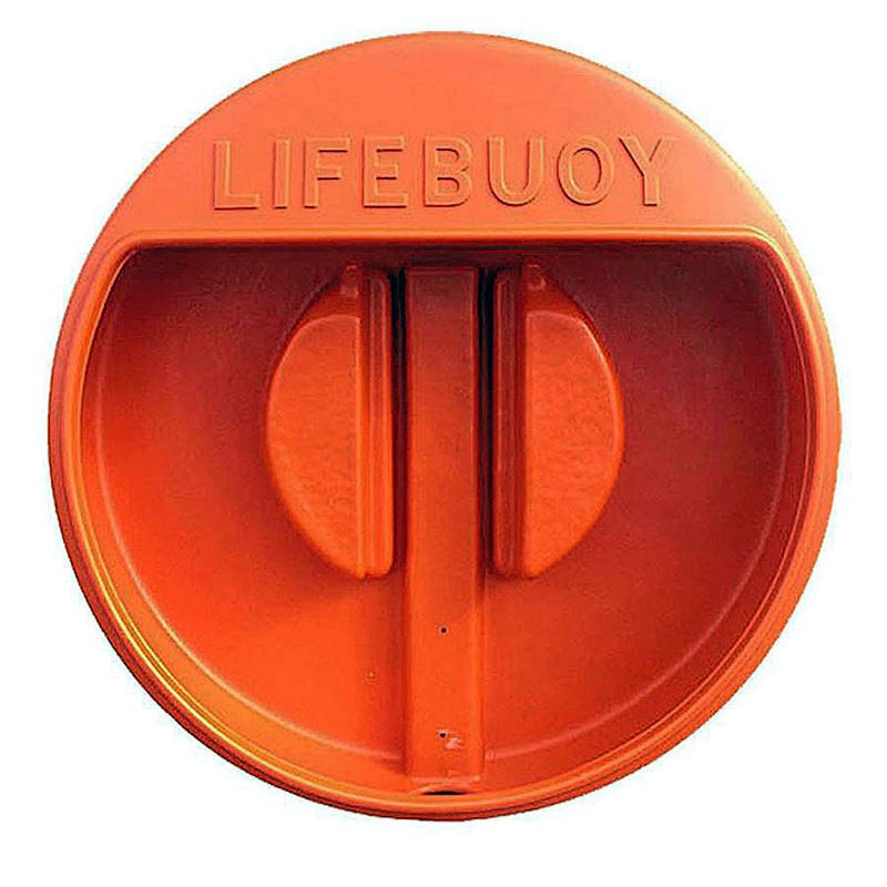 Lifebuoy Holder - Bright Orange - Wall Mounted