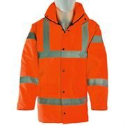 Waterproof Hi Vis Class 3 Orange Highway Anorak